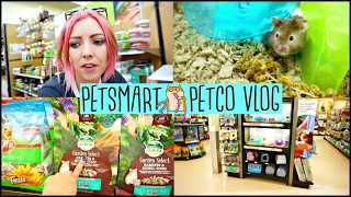 PETSMART & PETCO VLOG | Cute Hamsters,Fiddler Crabs & NOT ALLOWED TO FILM?