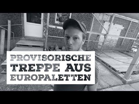 Aussentreppe aus EUROPALETTEN - provisorisch