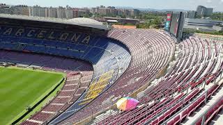 Barcelona Camp Nou 4K HDR 60 FPS sky view
