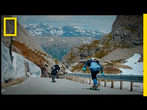 Fearlessly Longboarding Down Norway's Steep Mountain Roads   Short Film Showcase thumbnail