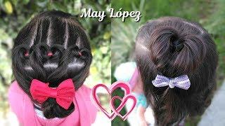 3 Peinados de CORAZON para NIÑAS en menos de 5 MINUTOS!   Peinados de San Valentín   May López