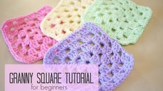 CROCHET: How To Crochet A Granny Square For Beginners | Bella Coco