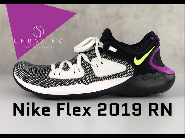 Nike Flex 2019 Rn Black Volt Glow Summit White Unboxing On Feet Running Shoes