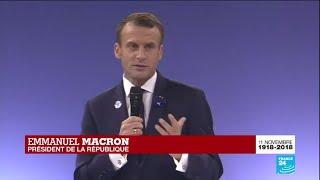 Forum sur la Paix à Paris : Introduction par Emmanuel MACRON