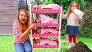 Kids Pretend Play Baby Dolls Morning Routine