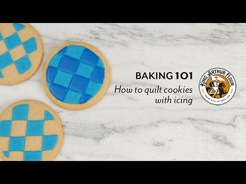 How to Quilt Cookies with Icing