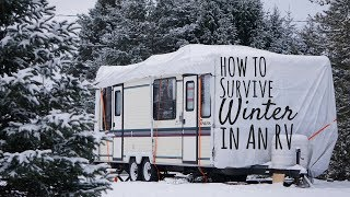How to Survive a Canadian Winter in an  RV