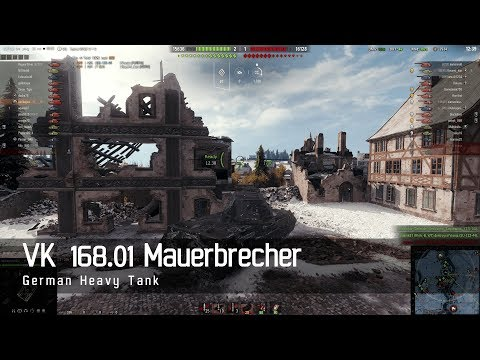 World of Tanks - German Tech Tree - Heavy Tank – VK 168 01 Mauerbrecher – Erlenberg