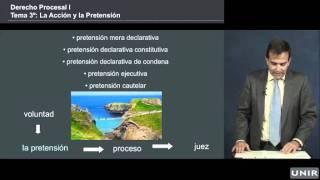 Lección: la acción y la pretensión,  Derecho Procesal - UNIR