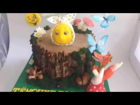 "Идея торта на тему сказки ""Колобок"""
