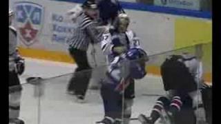 "KHL Fight. ""Sibir"" - ""Dinamo"" Riga"