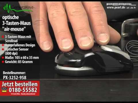 """GeneralKeys Optische 3-Tasten-Maus """"air-mouse"""""""