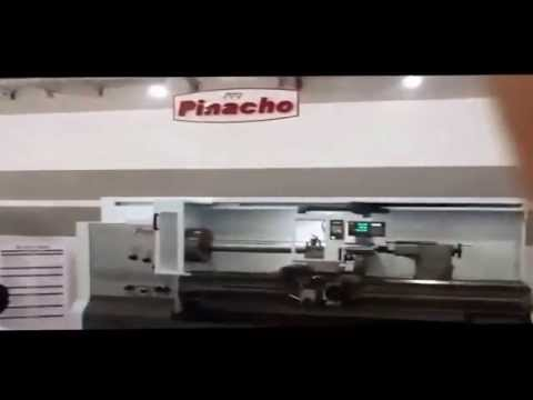 Demonstration Pinacho CNC Lathes SC 325*2500 at INTEC 2014 event