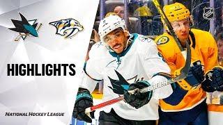 NHL Highlights | Sharks @ Predators 12/10/19