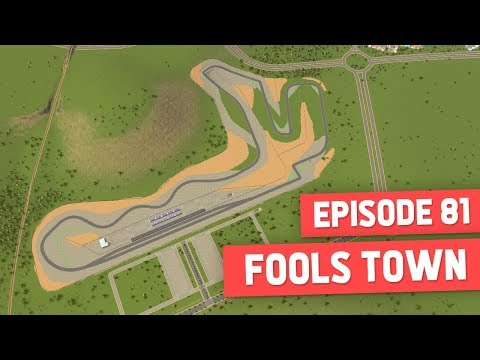 BUILDING A RACE TRACK - Cities Skylines #81