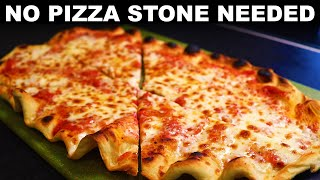 Pizza Grilled On Oven Grates —crispy Bottom Without A Stone Or Steel