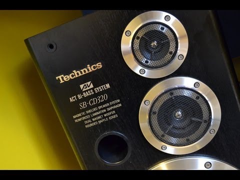TECHNICS SB-DV250 SPEAKER SYSTEM 3 WAY INPUT LOW 120W - HIGH
