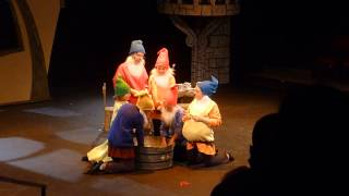 The washing song of the seven Dwarfs from a youth theatre production of Snow White