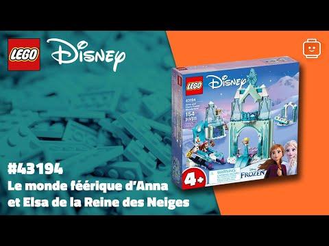 Vidéo LEGO Disney 43194 : Le monde féérique d'Anna et Elsa de la Reine des Neiges