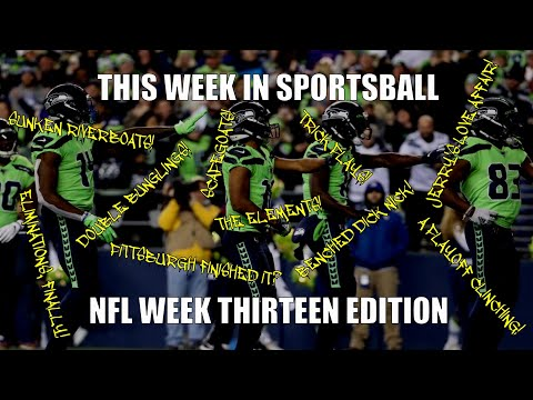 This Week in Sportsball: NFL Week Thirteen Edition (2019)