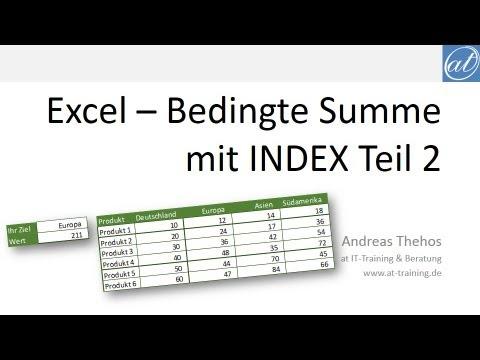 Excel # 385 - Summe über dynamischen Bereich mit INDEX - Teil 2