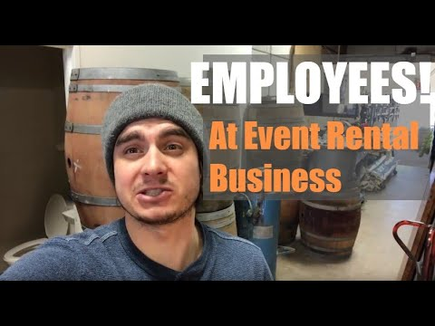 EMPLOYEES | Getting Labor for your event rental business!