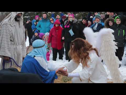 Living Nativity in Francis of Assisi Sculpture Garden 2017