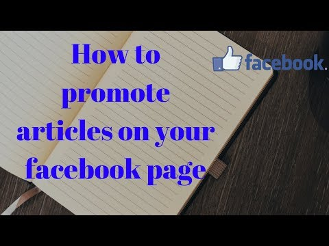 How to promote articles on your facebook page