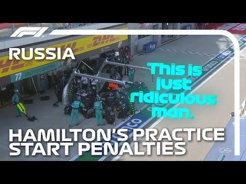 ルイス・ハミルトンが2回のペナルティをうける?!F1 ロシアGP ルイス・ハミルトンが無線で悲痛な叫びを訴える動画