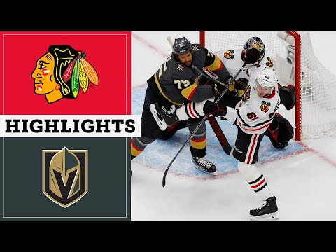 HIGHLIGHTS: Blackhawks at Golden Knights | Stanley Cup Playoffs Round 1, Game 1 | NBC Sports Chicago