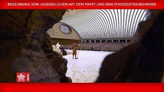 Papst Franziskus - Aula Paul VI. - Begegnung mit Jugendlichen 2018-10-06
