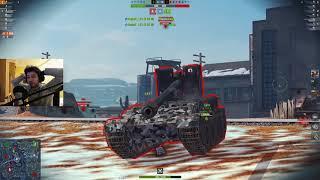 WoT Blitz - Как тащат 48%. Fv 215b без голды и с пингом - World of Tanks Blitz (WoTB)