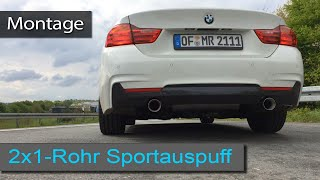 440i Look Sportauspuff und Active Sound - Montagevideo / Installation