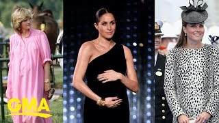 Royal Maternity Styles From Meghan Markle, Kate Middleton And Princess Diana   GMA Digital