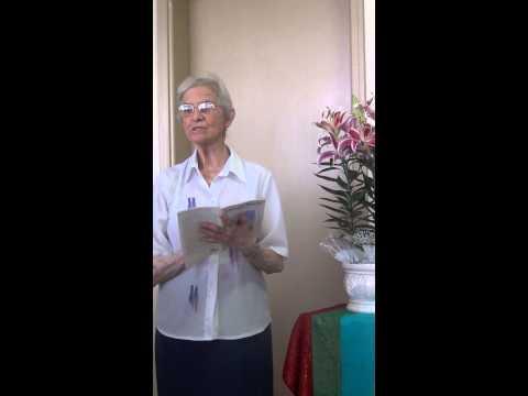 Proclamação do Evangelho por Irmã Celeste Gaion, SDS
