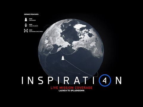 Inspiration4 Live Space Flight | First All Civilian Mission to Space - Entire Mission Livestream