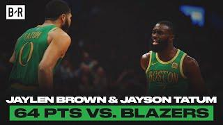 Jaylen Brown And Jayson Tatum Went Off vs. Blazers   Game Highlights