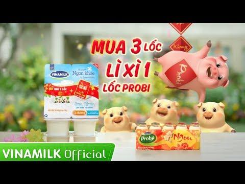 Quảng cáo Vinamilk Sữa chua – KHUYẾN MÃI TẾT 2019, LÌ XÌ PROBI THẬT HẤP DẪN!