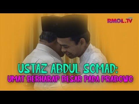 Ustaz Abdul Somad: Umat Berharap Besar Pada Prabowo