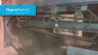 Работа линейных направляющих GV3 в станке для резки шиферной плитки