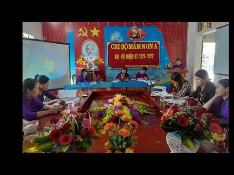 Đại hội chi bộ trường Mầm non Quỳnh Phương A nhiệm kỳ 2020 - 2022.