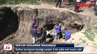 kütahyada 2000 yıllık mezar bulundu