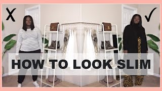 HOW TO LOOK SLIMMER I OUTFIT IDEAS + STYLE GUIDE I CURVY PLUS SIZE FASHION
