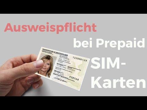 Ausweispflicht bei der Nutzung von Prepaid SIM Karten - wie funktioniert das online?