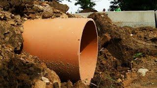 preview picture of video 'Pobiedziska - Budują kanalizację w Puszczy Zielonka.'