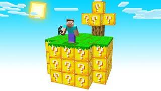 Minecraft Sky Block BUT Everything Is LUCKY BLOCKS!