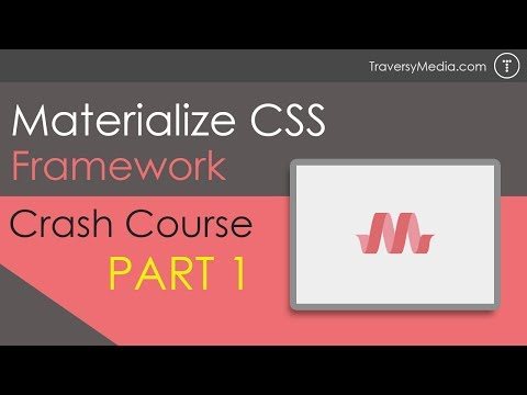 Materialize CSS Crash Course [Part 1]