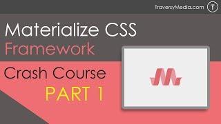 Materialize CSS Crash Course [Part 1]