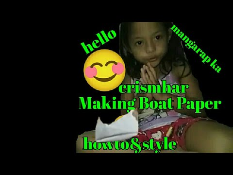 #5yearsold#paperboat#howto#style Making Paper Boat:talk tagalog by crismhar