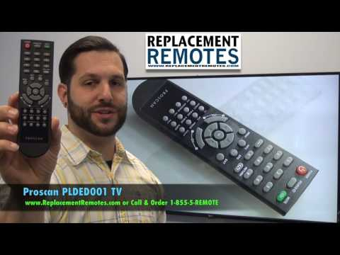 Proscan PLDED001 TV Remote Control